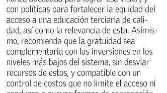 oecd y educación chilena